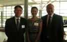 与中国驻布里斯班总领事孙大立和副总领事郭鹏合影